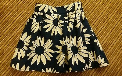 Blue and white sunflower skirt age 5-6