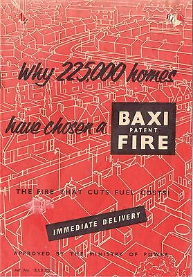 12 page Advertising leaflet for the Baxi Patent Fire