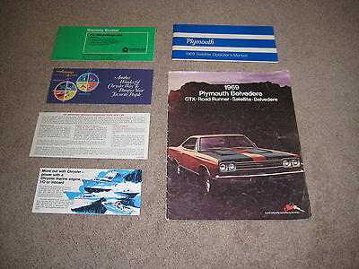 1969 Plymouth sales brochure and Owners Manual, Warranty Book
