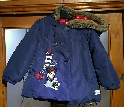 Minnie Mouse Winter Coat !!  Age 2 - 3 Years !! Fast and Free Delivery !!!