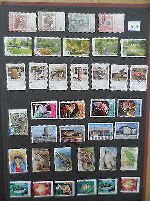 A50  Australia  Fine Used Stamps 2009-2010  Cv £39.50