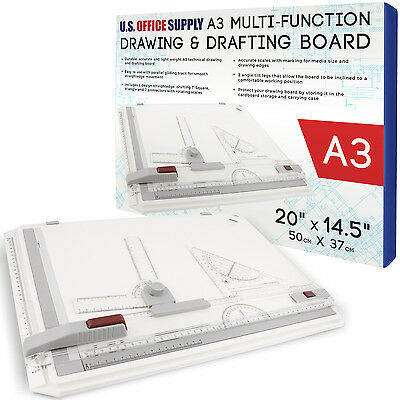 U.S. Office Supply A3 Multi-Functional Drawing Board Set Drafting Tools Table