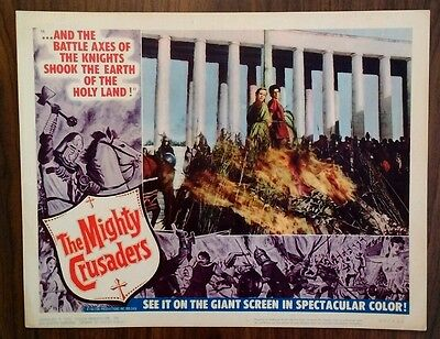 Rare 1960 Lobby Card - The Mighty Crusaders - Original, 11x14, Great!, #5