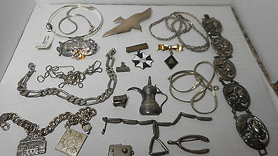 18 pcs. of Sterling Jewelry all good 162 grams