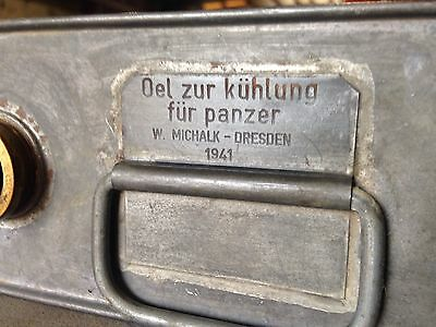Orig WWII German Panzer Oil Can 1941