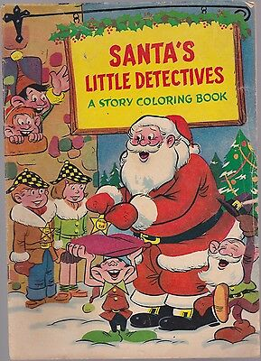 SANTA'S LITTLE DETECTIVES  BEN FRANKLIN GIVE AWAY LATE 50's