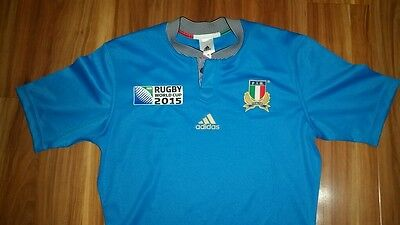 ITALY Rugby Union Jersey Italia Azzurri Authentic Adidas Mens Medium BNWT