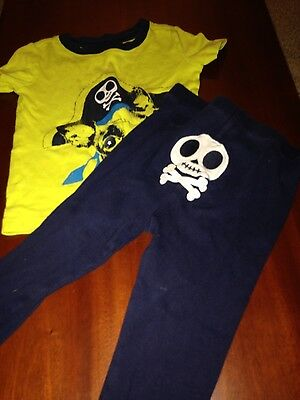 """Childrens Place 2pc short sleeved """"Pirate"""" pajamas - 2T boys"""