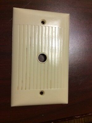 Vintage Sierra COVER PLATE SWITCH/ Dimmer Plate  Ivory Bakelite Deco D-11 Robbed