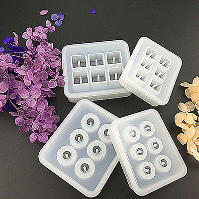 5pcs DIY Jewellery Making Epoxy Cube Designed Mould Pendant Mold Supplies