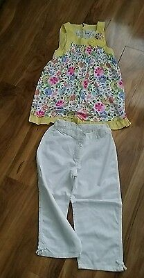 Girls top and 3/4 trousers set age 11 from next