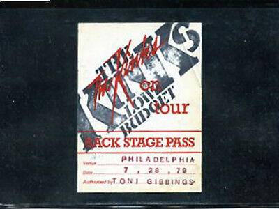 The Kinks  1979 Back Stage Pass