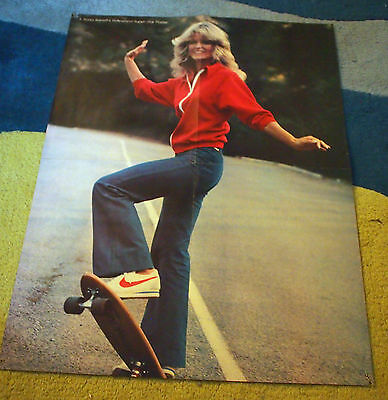 FARRAH FAWCETT Rona Barretts Double Sided POSTER LEE MAJORS Charlies Angels