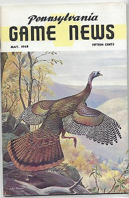 Pa Game Commission  News Magazines May 1968 Hillside Takeoff  Ned Smith Cover