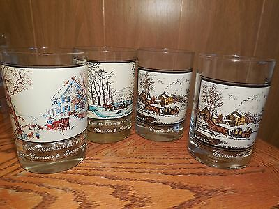 Currier & Ives Drinking Glasses- Arby's Collector's Series 1978