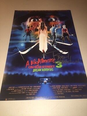 ROBERT ENGLUND Signed Autographed A NIGHTMARE ON ELM STREET Movie Poster FREDDY