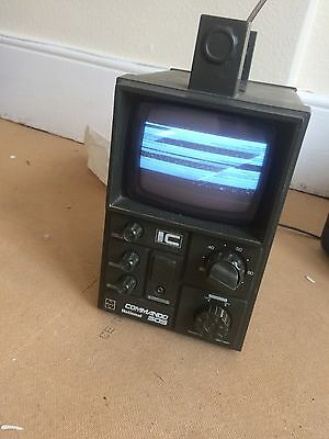 Vintage Late 70s/early 80s Portable Television,National Commando TR-505GB,