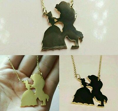 Beauty And The Beast Necklace Disney Christmas Gift Present Princess Jewellery
