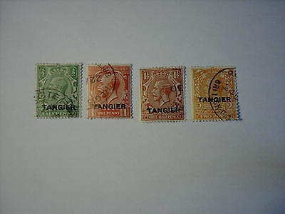 1927 Morocco Agencies - Tangier  King George V Scotts 501-504 Used