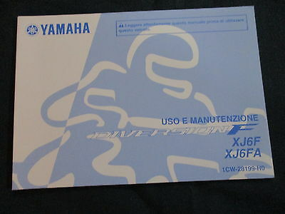 Uso e manutenzione Yamaha XJ 600 Diversion XJ6 F / FA (1CW) Model year 2010