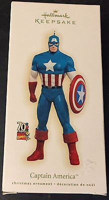 Hallmark Keepsake Marvel's Captain America Tree Ornament 2009 IN BOX, Rare