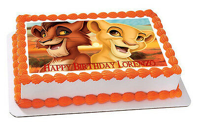 LION KING SIMBA - Edible Birthday Cake Topper OR Cupcake Topper ... 2b08cdf8f