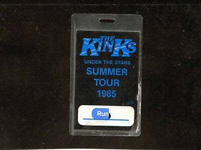 The Kinks 1985 Under The Stars tour - Authentic laminate backstage pass