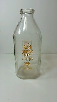San Dimas Dairy half gallon milk bottle very Rare