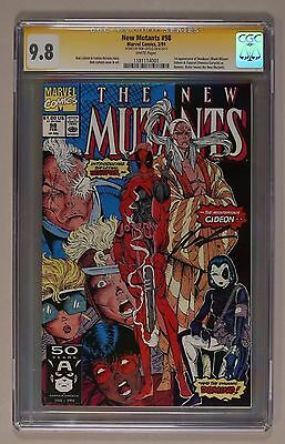 The New Mutants 98 CGC 9.8 SS SIGNED Rob Liefeld