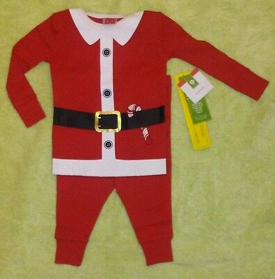 NWT! Cute Baby/Toddler Boy/Girl 2Pc. Red Santa Christmas Pajamas. Size: 12Months
