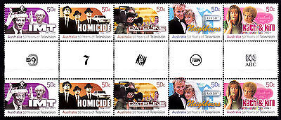 Australia 2006 mint unhinged TELEVISION gutter strip of 10
