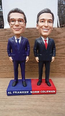 Political Bobble Heads New In The Box - Al Franken - Norm Coleman Recount
