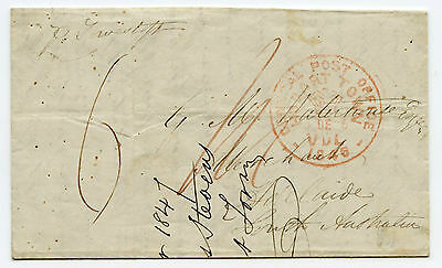 Tasmania 1846 ship letter to Adelaide, scarce inter colonial mail, fine