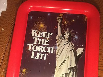 Keep The Torch Lit! Seagrams Seven Whiskey Statue Of Liberty TIN 1982
