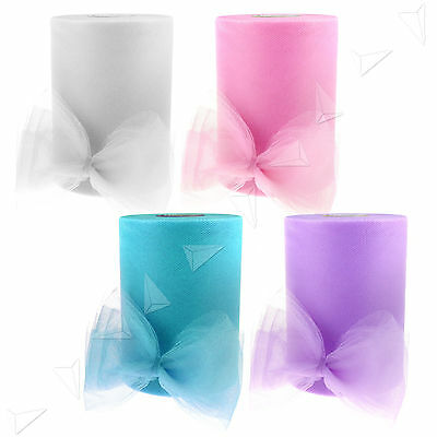 "Colors Tulle Roll Spool For Craft Wedding Party Wrapping Decoration 6""x100yd"