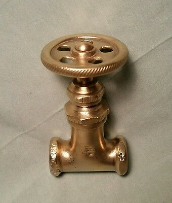 "Vintage Antique 3/8"" Crane Water Valve Brass Steampunk Industrial Art Parts"
