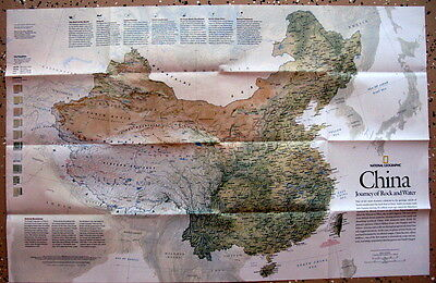 China / Forbidden City National Geographic  Map / Poster May 2008