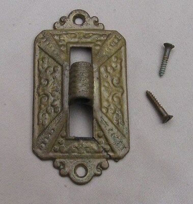 Back Plate Gas Oil Lamp Wall Sconce Cast Iron Eastlake 1875 Antique VTG