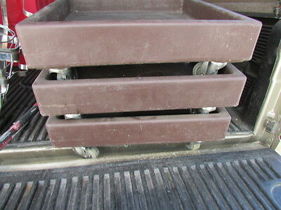 Lot Of 3 Used Cambro Cd2020 Commercial Carrier/cart/caddy Nsf