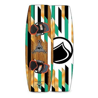 NEW Liquid Force Focus Kiteboard COMPLETE 134 x 41cm LF Fusion Footstraps, Fins