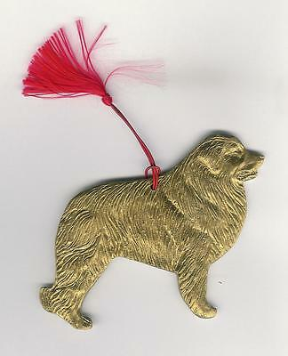 Great Pyrenees Goldtone Hanging Ornament with Red Tassel by Dannyquest