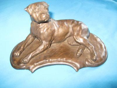 Rottweiler Coldcast Bronze Statue Lying by Dannyquest