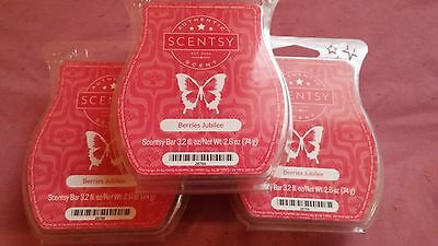 Scentsy Berries Jubilee Lot of 3 Retired Scent