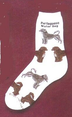 Portuguese Water Dog Socks by For Bare Feet NWT - PWD