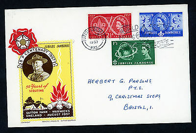 1957 GB FDC SCOUT JUBILEE JAMBOREE Sutton Coldfield CDS CV £150.00 VERY RARE
