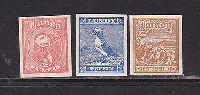 Lundy Island Local Post Birds Imperf  Mint  Nh