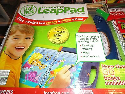 Leapfrog Learning System NIB LeapPad+ NEW Book Read Write Disney 6 USED Books