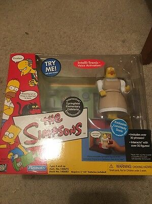 Simpsons Springfield Elementary Cafeteria Environment+Lunch Lady Doris Figure