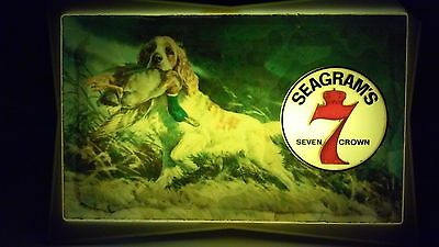 vintage Seagrams 7 gin light sign duck hunting