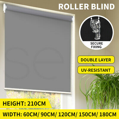 Quality Modern 100% Blockout Roller Blinds Curtain Full Shading Different Sizes